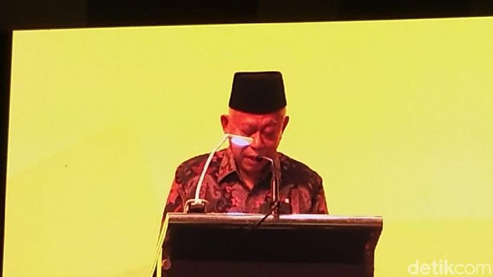 Foto: Maruf Amin Membuka Konferensi Sawit di Bali (Danang Sugianto/detikcom)