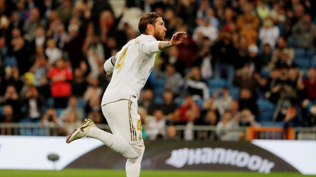 Bikin Gol di 16 Musim Beruntun, Ramos Samai Messi