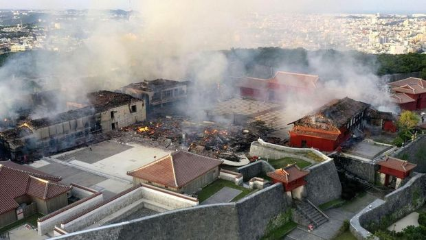 Istana Bersejarah di Jepang Terbakar, Ini Dugaan Penyebabnya