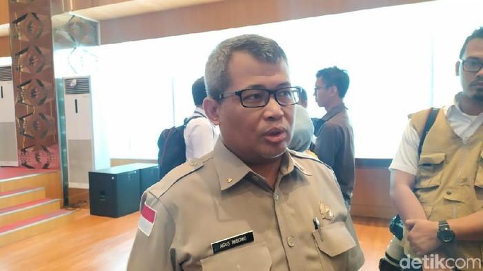 Foto: Kepala Pusat Data, Informasi, dan Humas BNPB Agus Wibowo (Farih Maulana Sidik/detikcom)