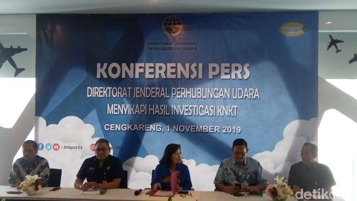 Foto: Konferensi Pers Ditjen Perhubungan Udara - Herdi Alif Alhikam
