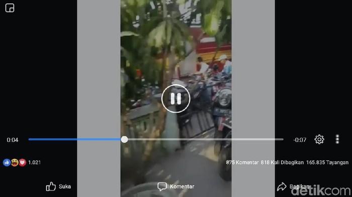 Tangkapan layar video viral di Facebook, Jumat (1/11/2019). Foto: Istimewa