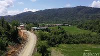Pemandangan di sekitar pos perbatasan Long Bawan