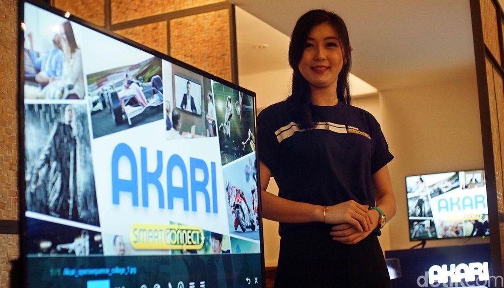 Ini dia Akari produk lokal yang digadang-gadang menjadi TV Smartconnect pertama di Indonesia.
