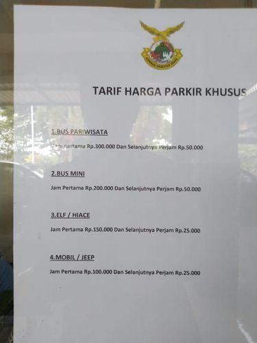 Tarif parkir khusus di Bandara Malang yang Viral/