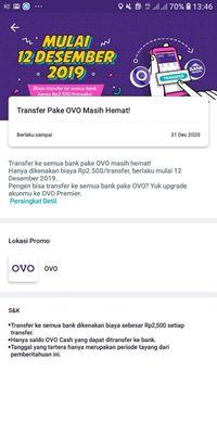 Sedih, Transfer ke Bank dari OVO Bakal Kena Biaya