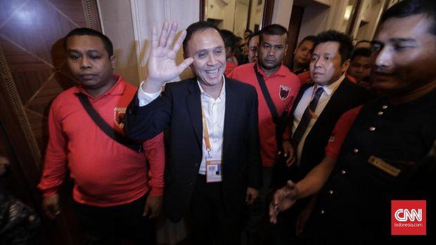 Iwan Bule usai terpilih menjadi Ketua PSSI periode 2019-2023. (