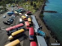 Ini kendaraan di Samoa. Negara ini masih menutup diri untuk turis (Foto: Dok. Xinhua/Guo Lei)