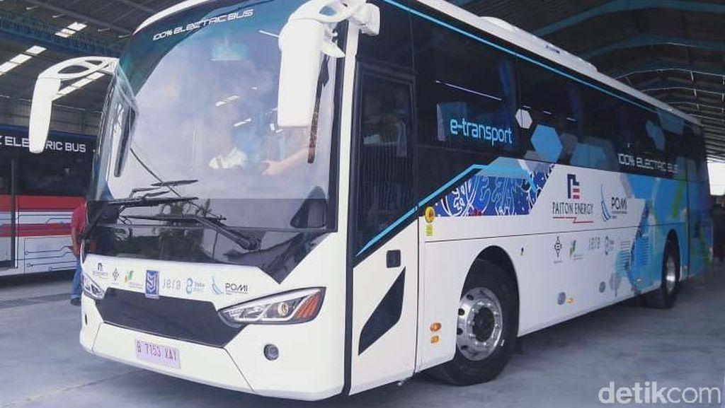Bus Listrik Pertama Made In Indonesia Diproduksi di Demak