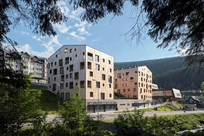 Perusahaan arsitektur Ceko, ov-a adalah pihak dibalik permak pusat perbelanjaan jadi apartemen. BoysPlayNice/Inhabitat.