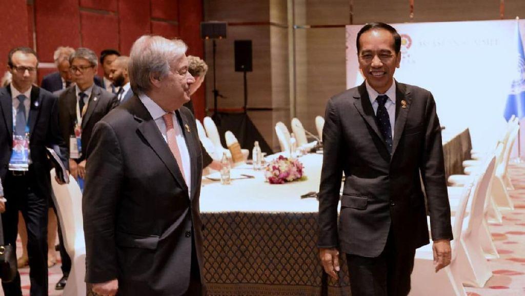 Bertemu Sekjen PBB, Jokowi Bahas Perdamaian Palestina