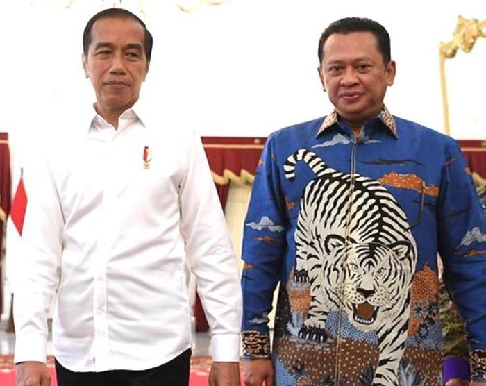 Foto ilustrasi Presiden Jokowi dan Bambang Soesatyo (Dok. MPR RI)