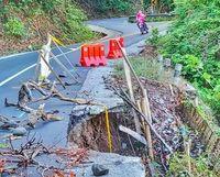 Jalan rusak di Lombok Utara