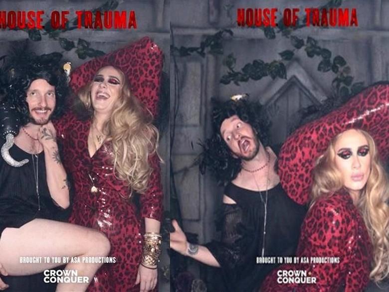 Penampilan seksi Adele di Halloween. Foto: Dok. Instagram