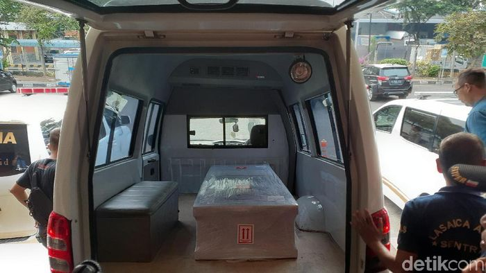 Jenazah Afridza Syach Munandar tiba di Jakarta. (Adhi Indra Prasetya/detikSport)