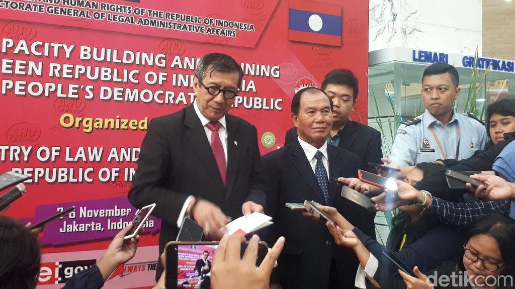 Kemenkum HAM RI-Laos Perkuat Kerja Sama Penegakan Hukum