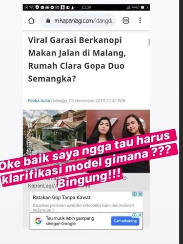 Clara Gopa 'Duo Semangka' Bingung Kanopi Rumahnya Jadi Viral