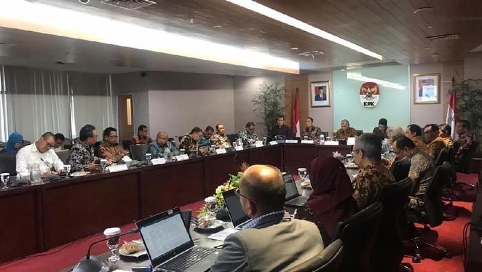 Suasana pertemuan antara KPK dengan jajaran Kemensos (Foto: dok KPK)