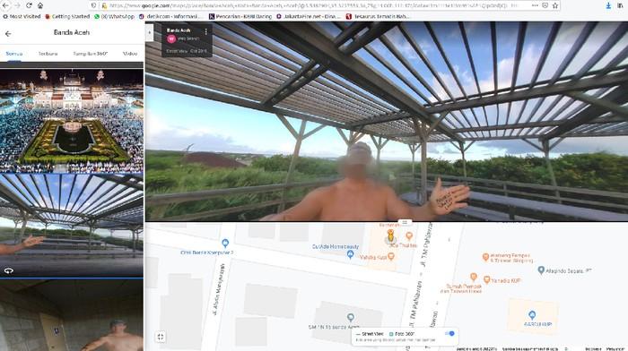 Foto: Screenshot Google Maps pencarian Banda Aceh