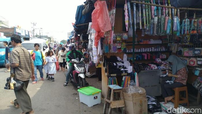 Pasar Citeureup Bogor pada Senin (4/11/2019) (Sachril Agustin Berutu/detikcom)