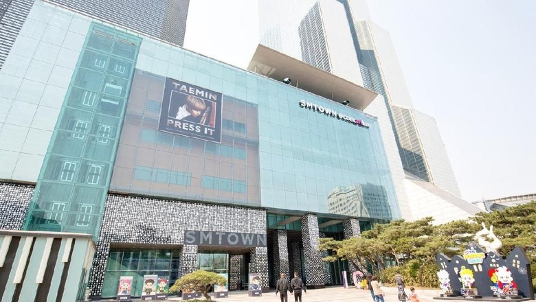 Seoul South Korea - October 21, 2016: SMTOWN Coex Artium in Seoul South Korea. SMTOWN Coex Artium is an entertainment complex centered around SMTOWN artists.