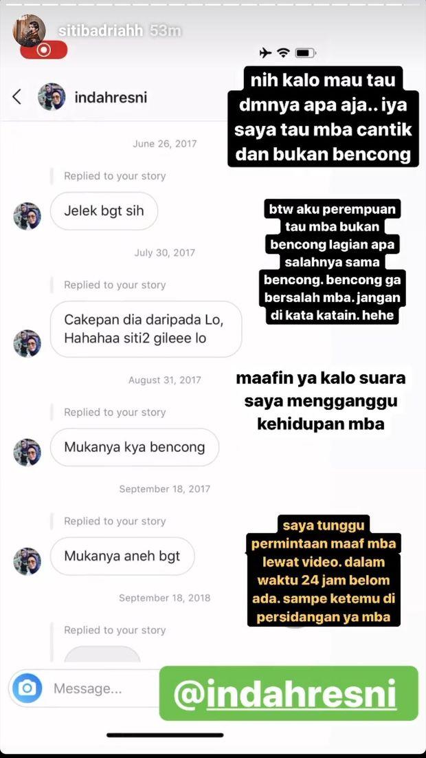 Ini Isi DM Netizen yang Buat Siti Badriah Meradang