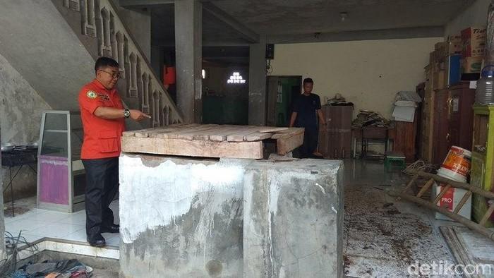 Lokasi sumur yang berada di kompleks Ponpes Nurul Ali, Sempu, Ngadirojo, Secang, Kabupaten Magelang, Selasa (5/11/2019). (Eko Susanto/detikcom)
