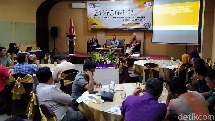 Rakor evaluasi pencalonan anggota DPRD Klaten pada Pemilu 2019 di Klaten, Selasa (5/11/2019). (Achmad Syauqi/detikcom)