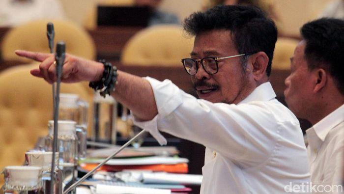 Menteri Pertanian (Mentan) Syahrul Yasin Limpo hadir dalam rapat bersama Komisi IV DPR. Rapat itu membahas program kerja Kementan 5 tahun ke depan.