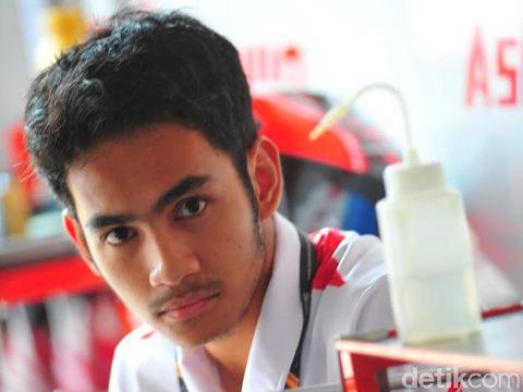 Andi Gilang, pebalap Indonesia yang bakal berlaga di Moto2 tahun depan.