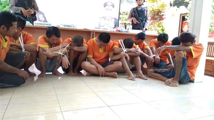 Sepuluh pengedar narkoba di Lamongan (Eko Sudjarwo/detikcom)