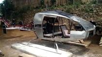 Helikopter Ini Dirakit Tukang Bubut dengan Modal Rp 30 Juta