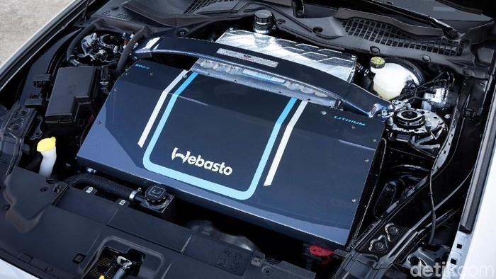 Ford menampilkan prototipe mobil listrik Ford Mustang yang disebut Mustang Lithium.