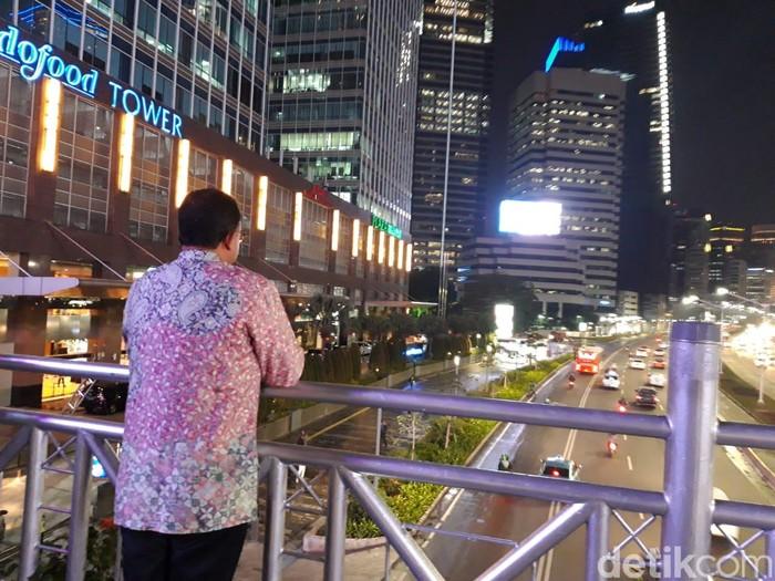Foto ilustrasi: Gubernur Anies Baswedan melihat jalan protokol di Jakarta (Rahel/detikcom)
