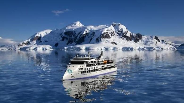 Kapal Pesiar X-Bow yang anti mabuk laut.  (Foto: Aurora Expeditions/CNN)
