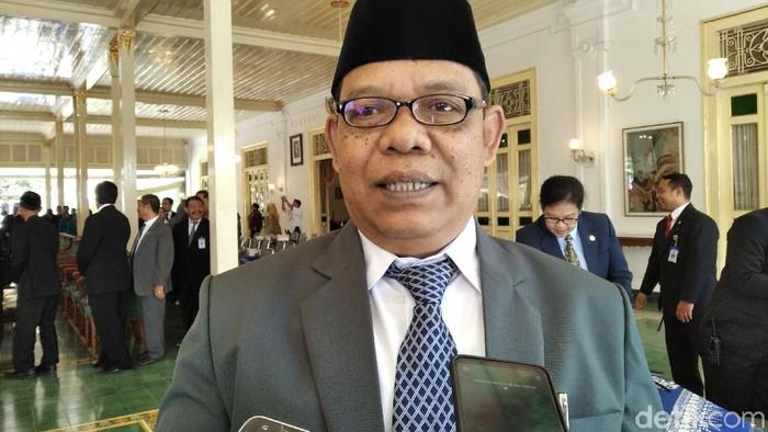 Kakanwil Kemenag DIY Edhi Gunawan di Kepatihan, Yogyakarta, Rabu (6/11/2019). (Usman Hadi/detikcom)