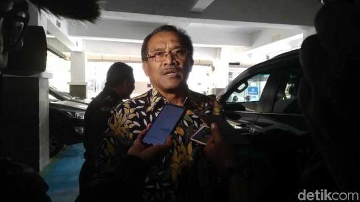 Bupati Blora Djoko Nugroho usai diperiksa di Kejati Jateng