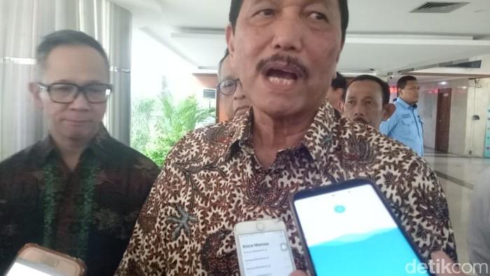 Menko Maritim Luhut Binsar Pandjaitan bertemu Menteri Perdagangan AS Wilbur Ross