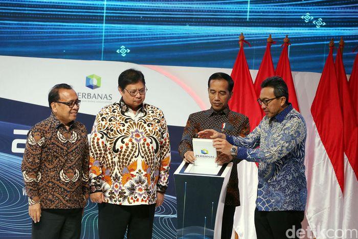 Jokowi membuka Indonesia Banking Expo 2019 di Hotel Fairmont, Jakarta Selatan, Rabu (6/11/2019).