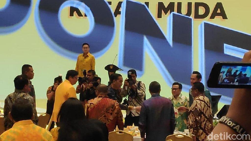 Jokowi-Maruf Amin Hadiri HUT Ke-55 Golkar