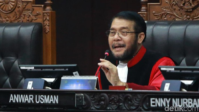 Ketua MK Anwar Usman (Foto: Ari Saputra)