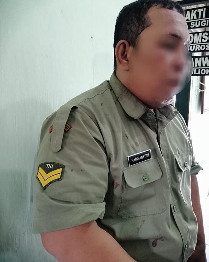 Tentara gadungan di Percut Sei Tuan, Sumut, ditangkap (Instagram @kodim_0201_bs)
