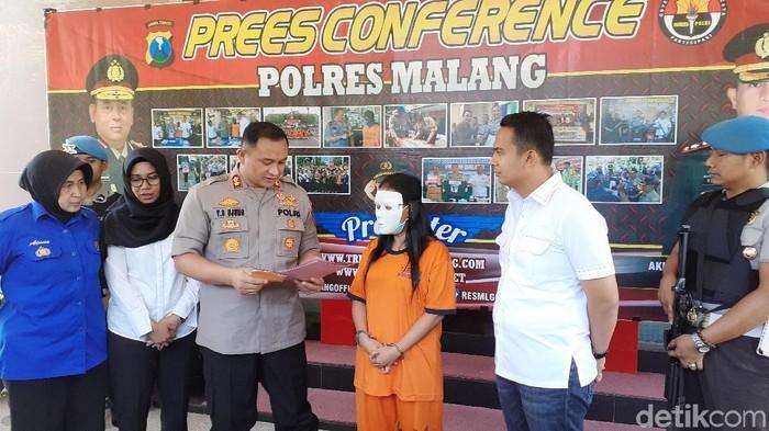 Konferensi pers Polres Malang/Foto: Muhammad Aminudin
