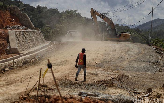 Pembangunan infrastruktur di kawasan perbatasan Indonesia terus dilakukan.