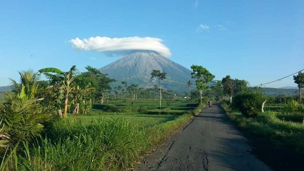 Gunung Semeru Bertopi, Netizen Tanya Kapan Jalur Dibuka Lagi