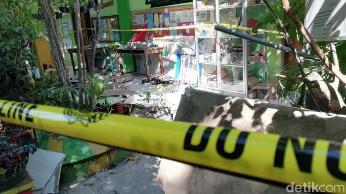 SDN Gentong yang ambruk/Foto: Muhajir Arifin