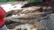 Jalan Amblas di Riau, Truk Tronton Hilang Ditelan Bumi