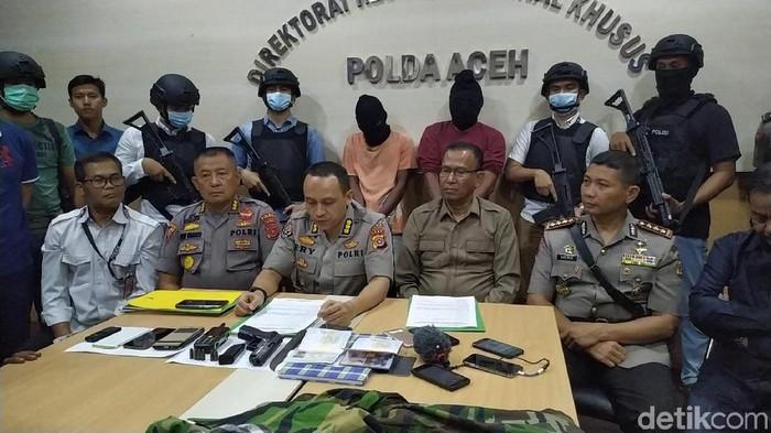 Pimpinan Kelompok yang Bikin Video Meresahkan Pembebasan Kemerdekaan Aceh Darussalam Ditangkap. (Agus/detikcom)