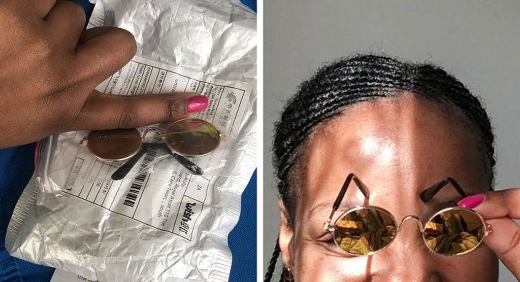 Kacamata untuk gadis yang punya kepala kecil. Foto: Twitter/Keo_Manne