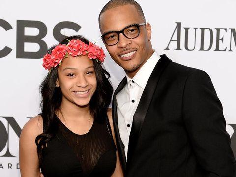 Deyjah Harris dan sang ayah rapper T.I di 2014
